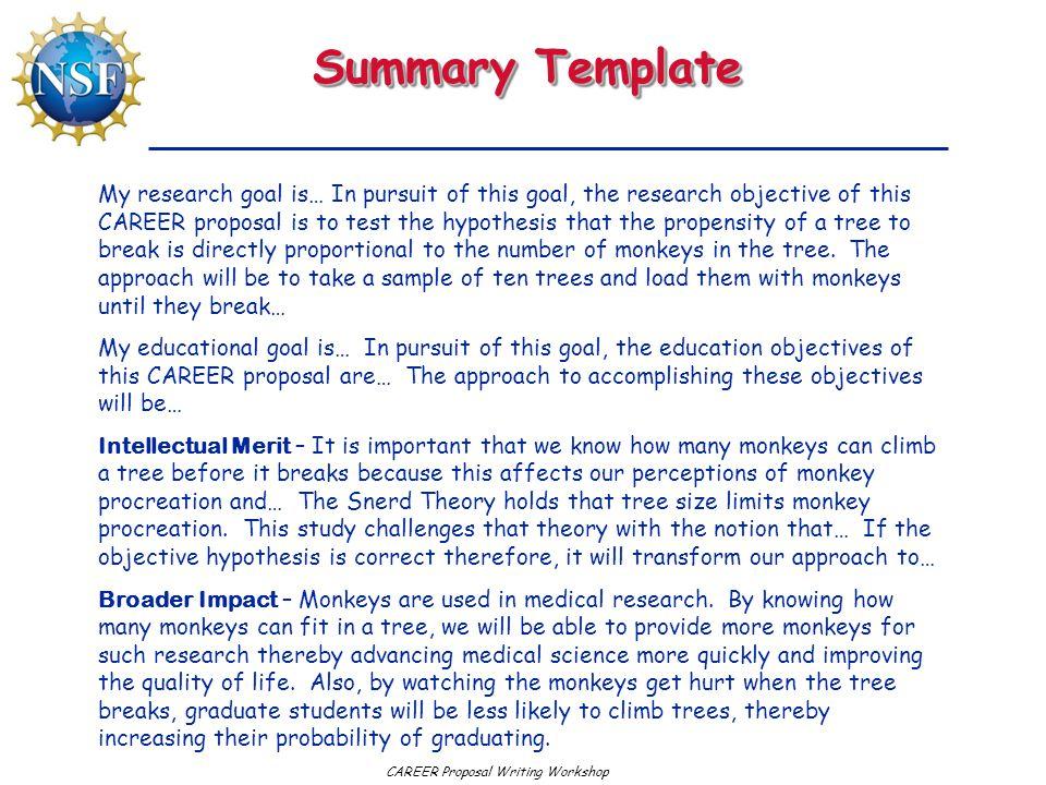 Summary Template