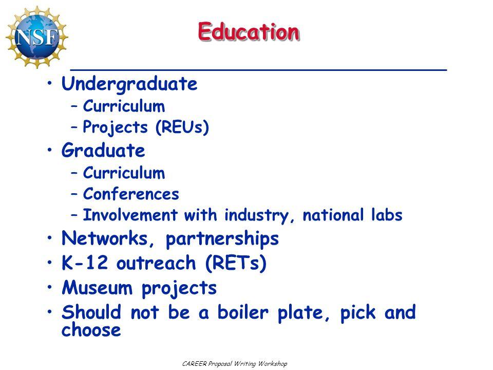 Education Undergraduate Graduate Networks, partnerships
