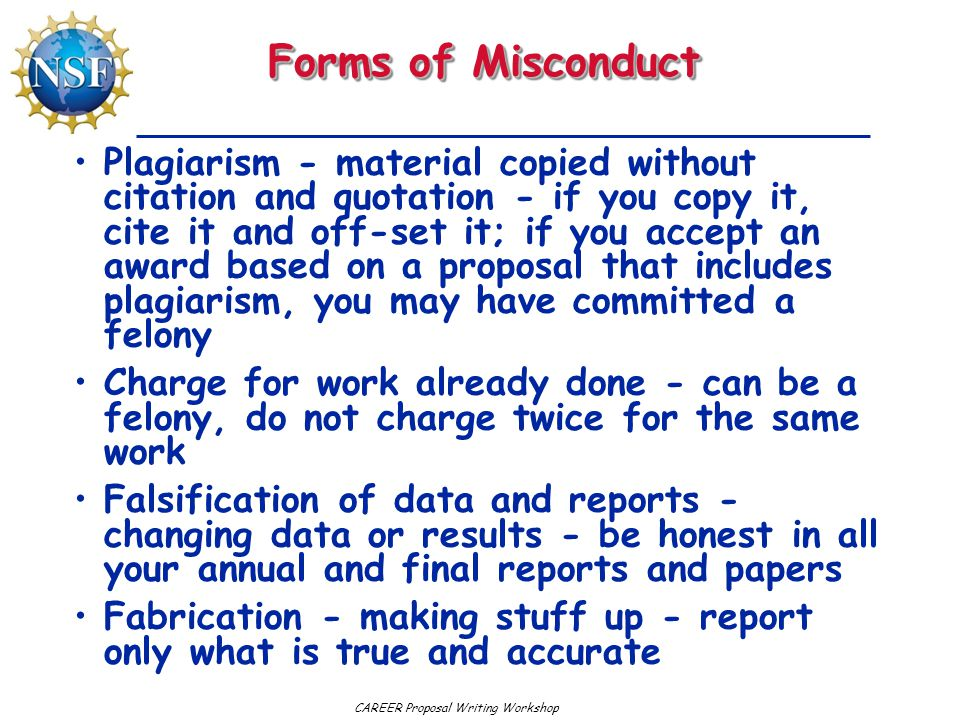 Forms of Misconduct