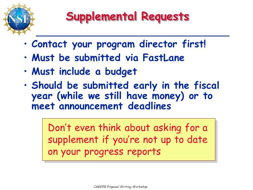 Supplemental Requests