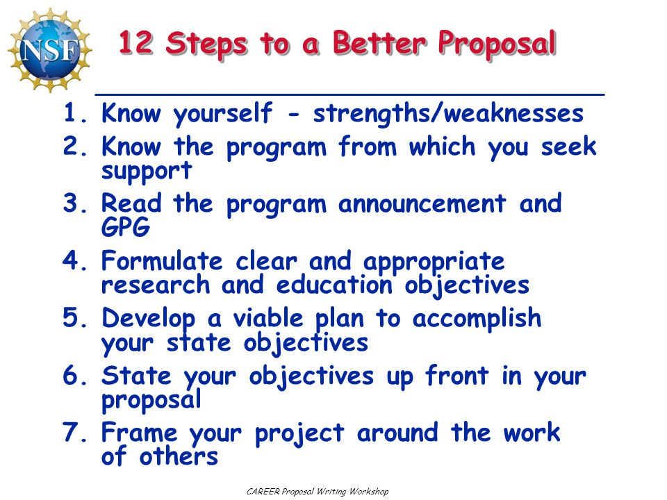 12 Steps to a Better Proposal