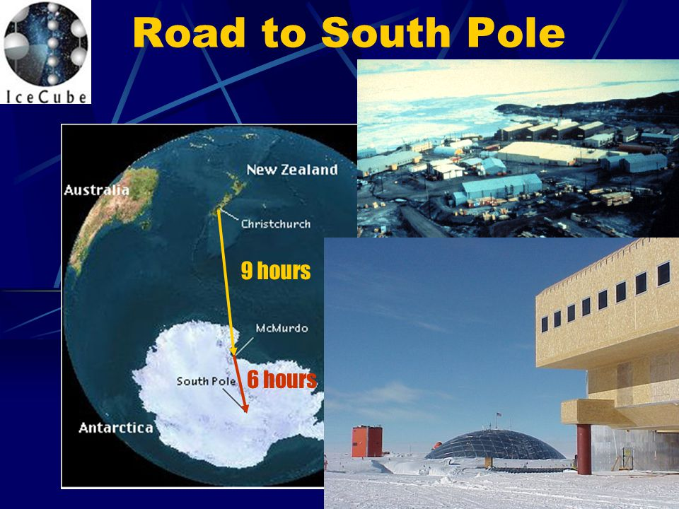 Road to South Pole 9 hours 6 hours