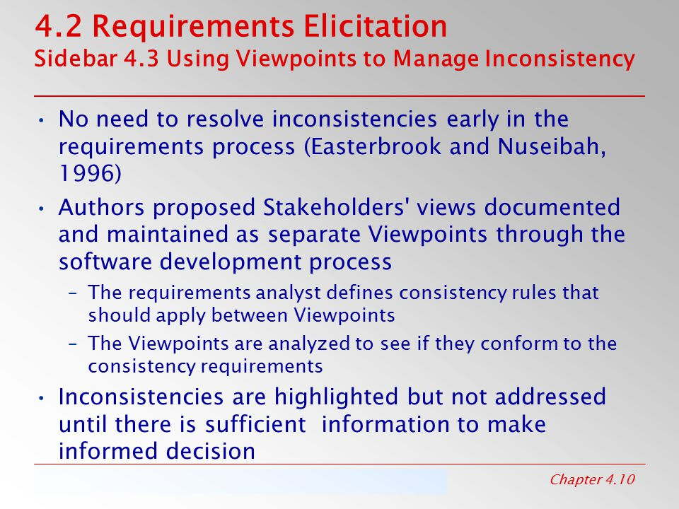 4. 2 Requirements Elicitation Sidebar 4