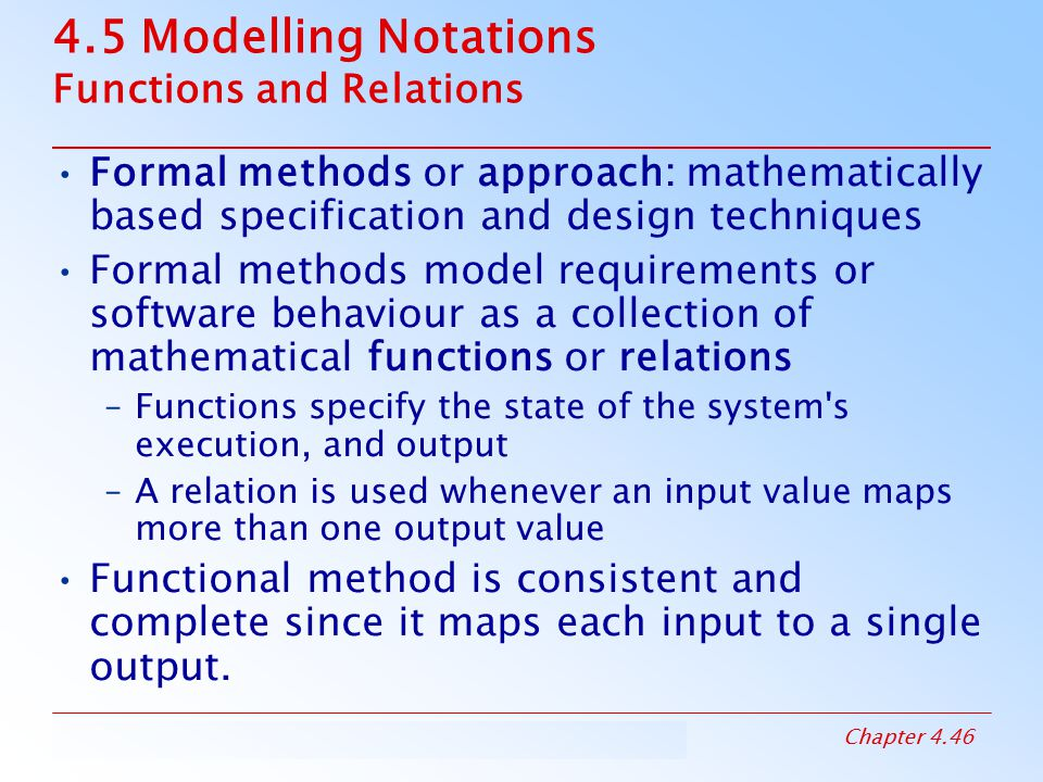 4.5 Modelling Notations Functions and Relations
