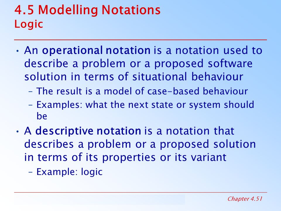 4.5 Modelling Notations Logic