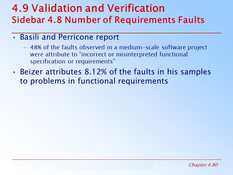 4. 9 Validation and Verification Sidebar 4