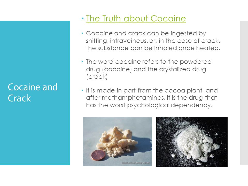 Cocaine and Crack The Truth about Cocaine