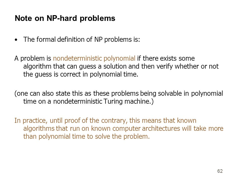 Note on NP-hard problems