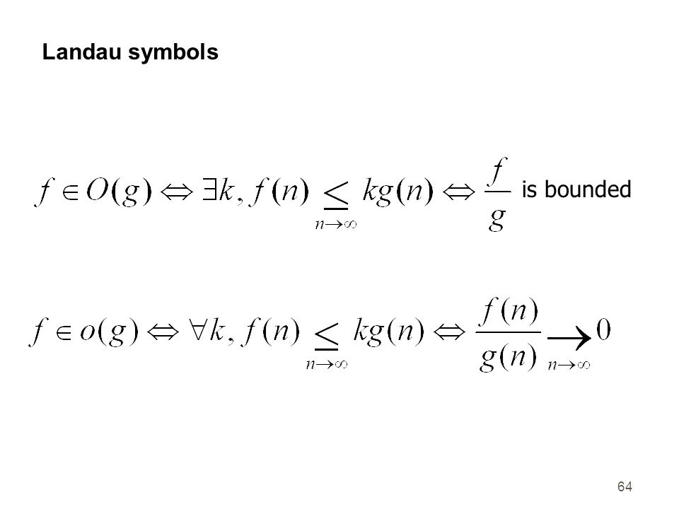 Landau symbols is bounded