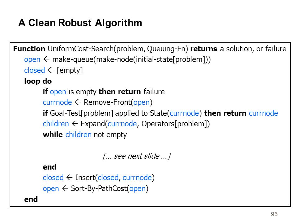 A Clean Robust Algorithm