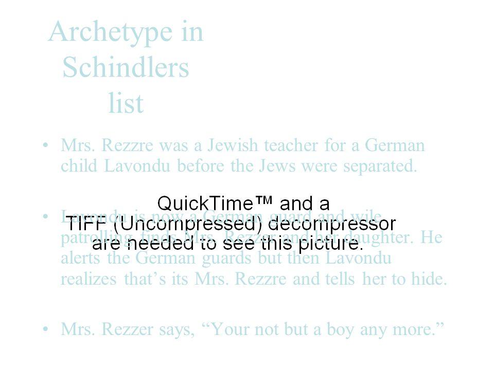 Archetype in Schindlers list