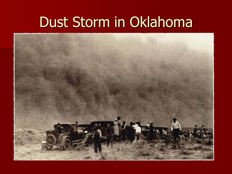 Dust Storm in Oklahoma