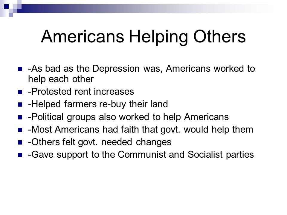 Americans Helping Others