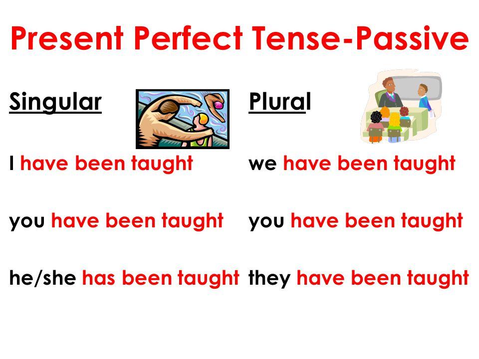 Present Perfect Tense-Passive