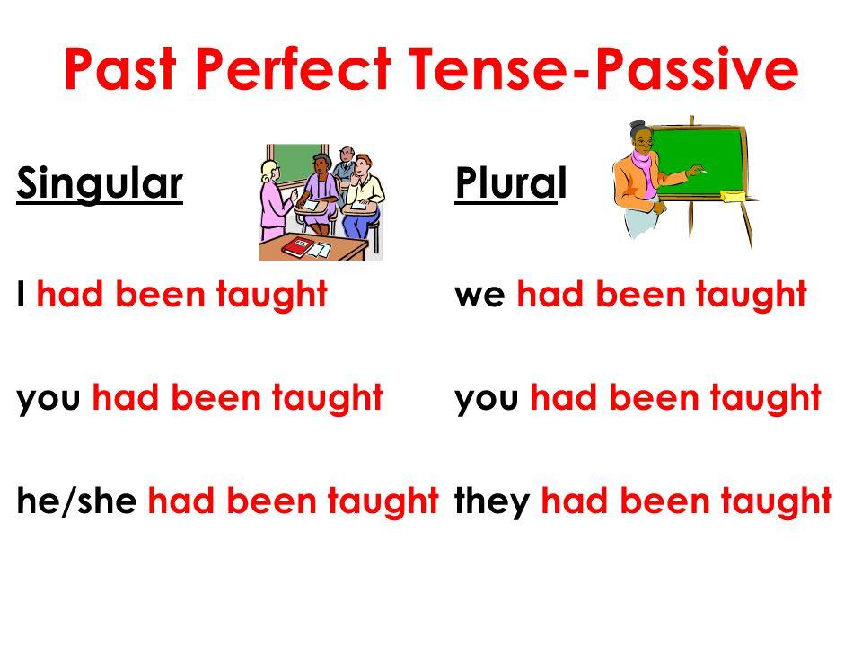 Past Perfect Tense-Passive