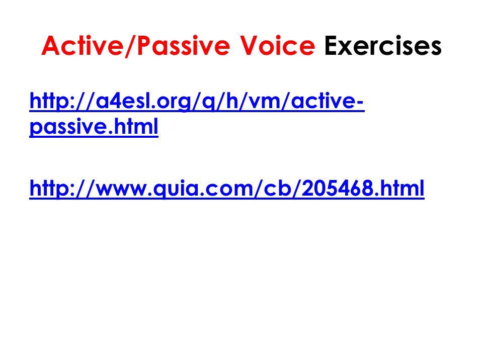 Active/Passive Voice Exercises