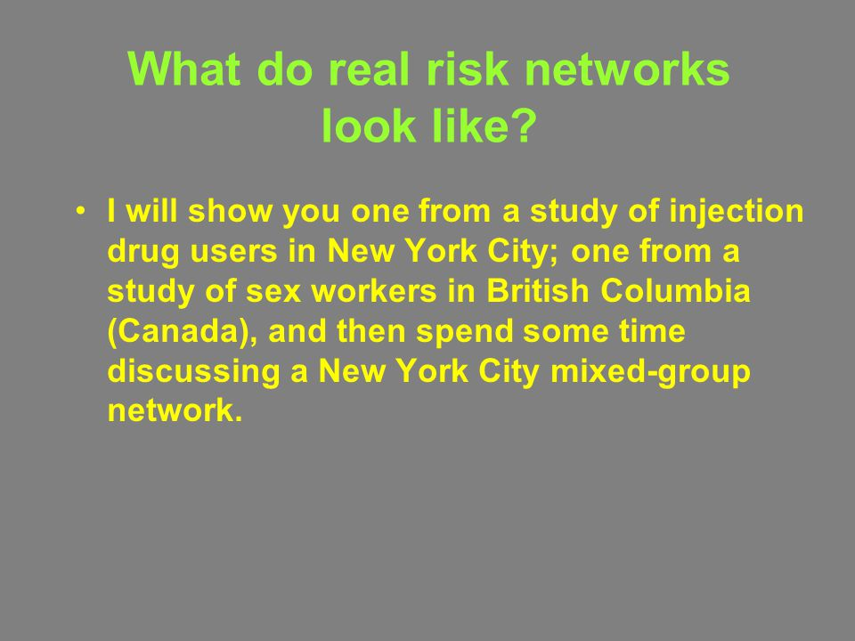 What do real risk networks look like