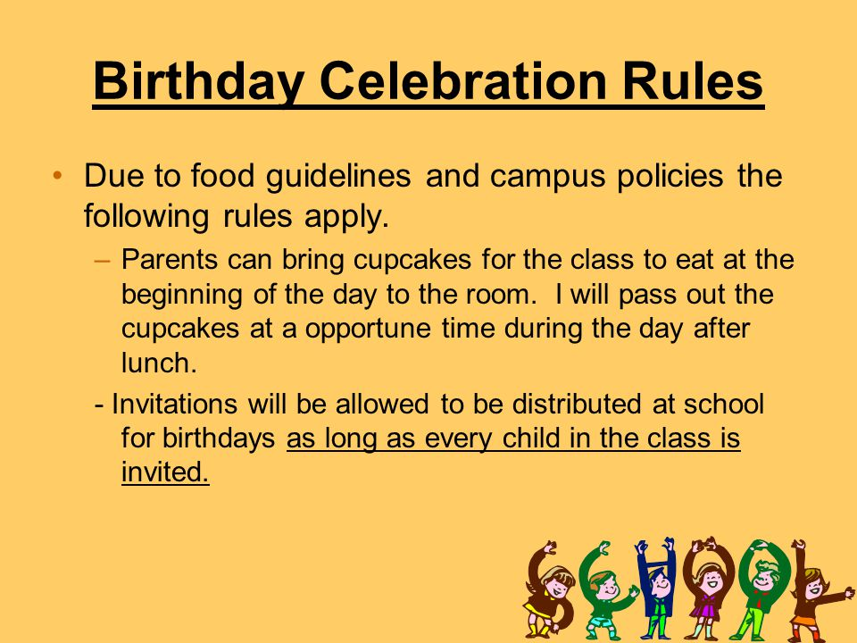 Birthday Celebration Rules