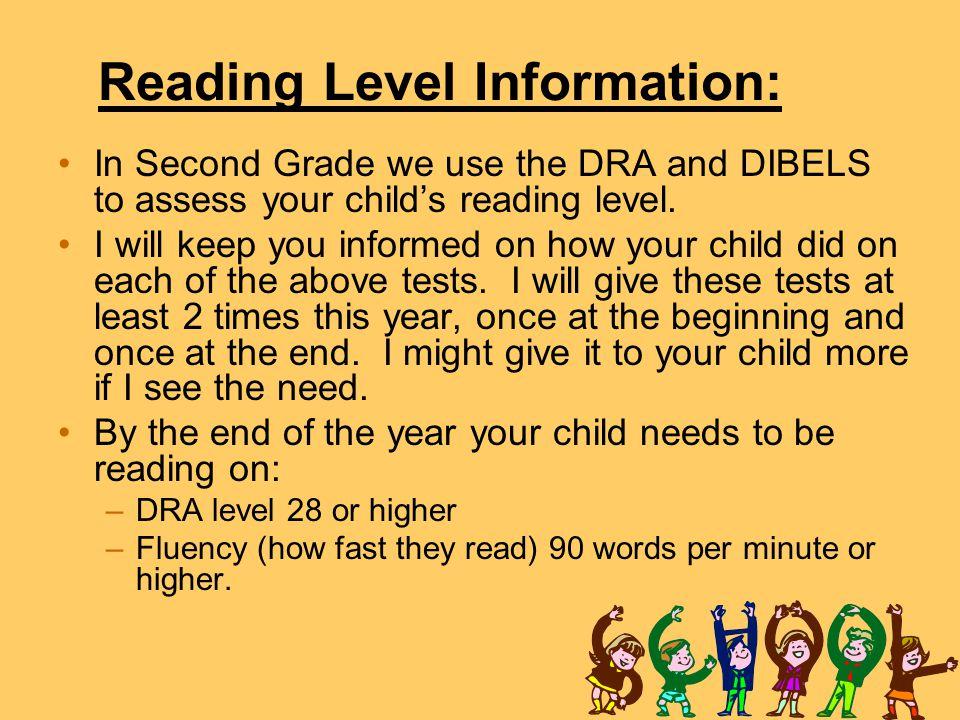 Reading Level Information: