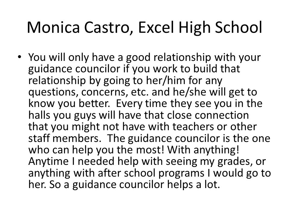 Monica Castro, Excel High School