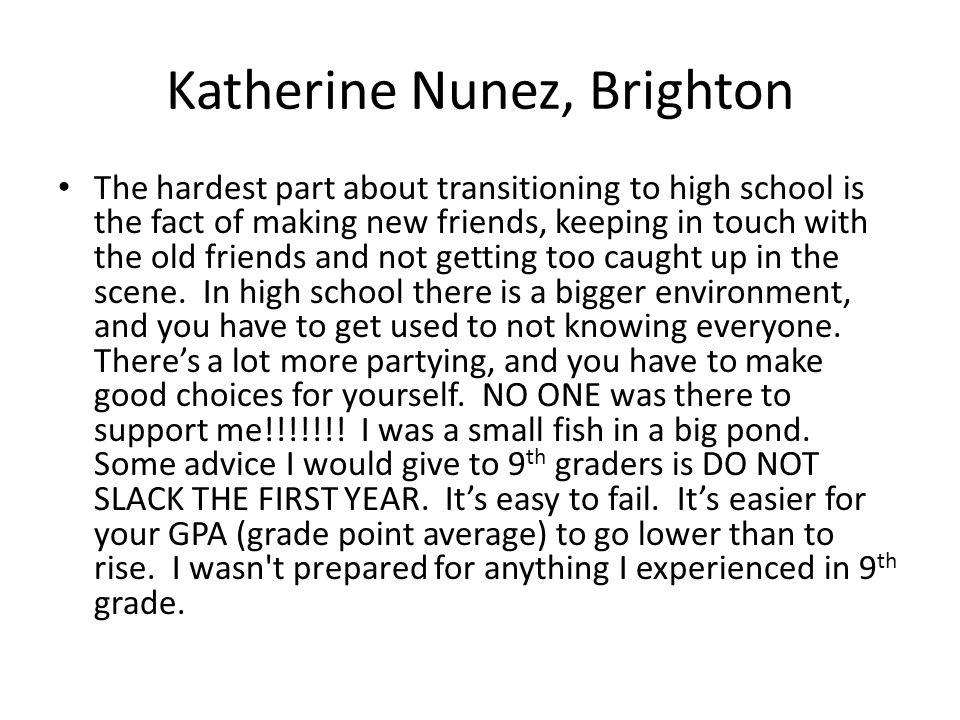 Katherine Nunez, Brighton