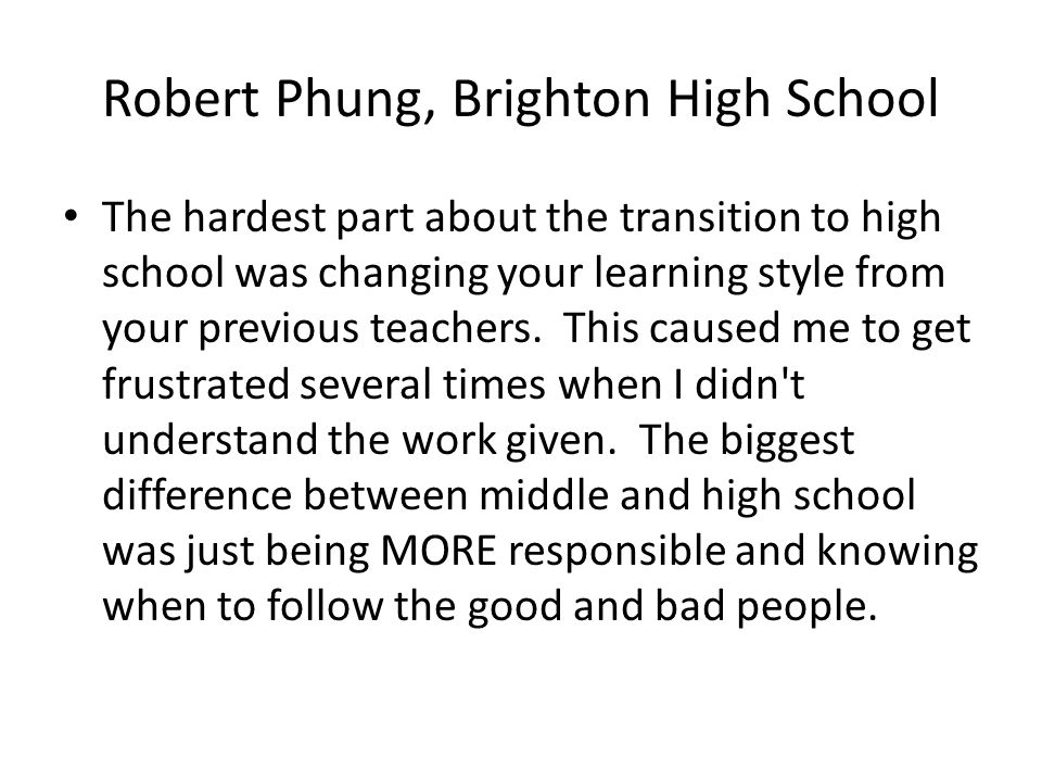 Robert Phung, Brighton High School