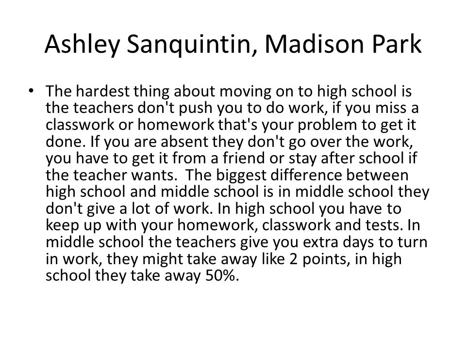 Ashley Sanquintin, Madison Park