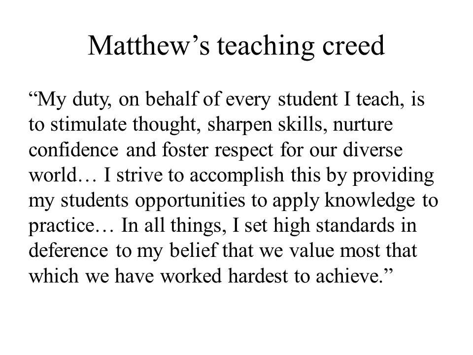 Matthew's teaching creed