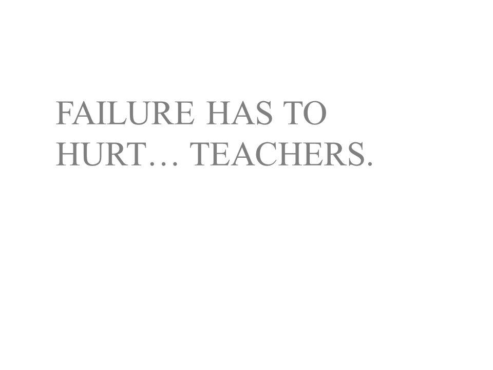 FAILURE HAS TO HURT… TEACHERS.