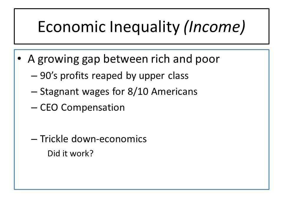 Economic Inequality (Income)