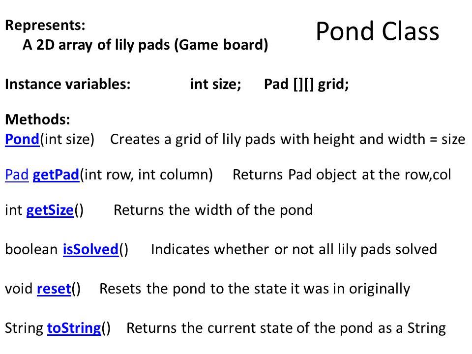 Pond Class
