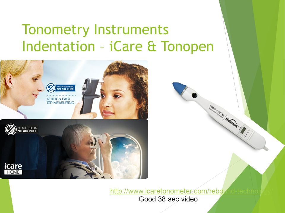 Tonometry Instruments Indentation – iCare & Tonopen
