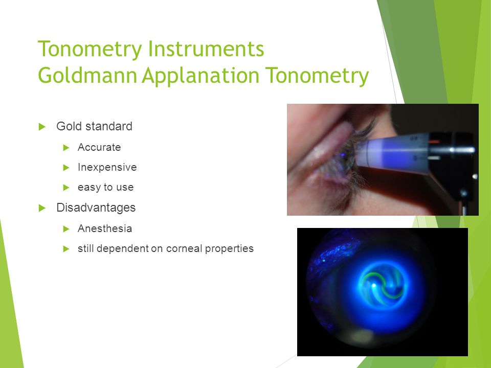 Tonometry Instruments Goldmann Applanation Tonometry
