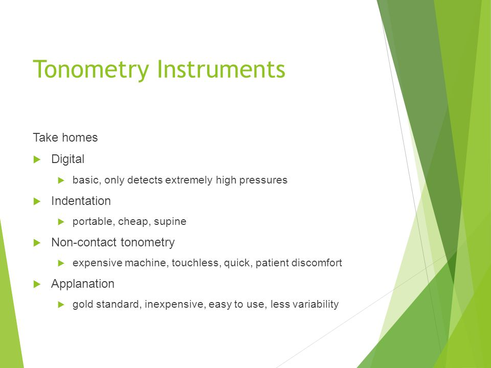 Tonometry Instruments