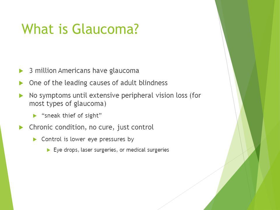 What is Glaucoma 3 million Americans have glaucoma
