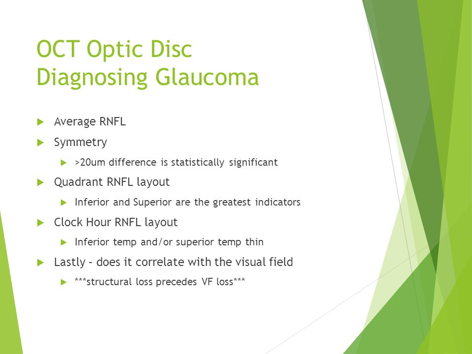 OCT Optic Disc Diagnosing Glaucoma