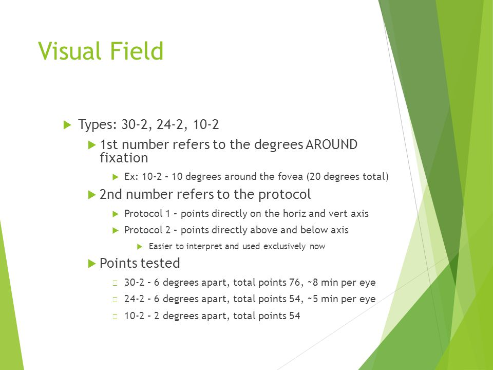 Visual Field Types: 30-2, 24-2, 10-2