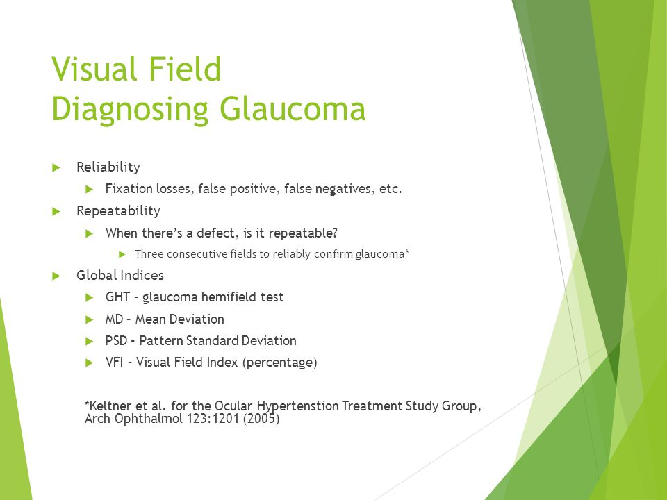 Visual Field Diagnosing Glaucoma