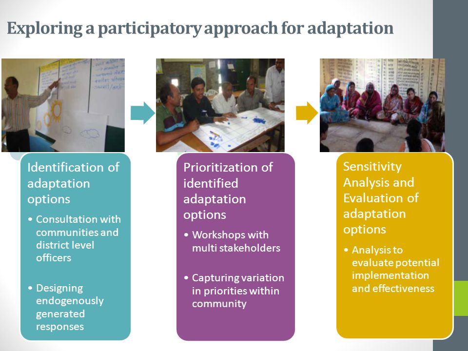 Exploring a participatory approach for adaptation