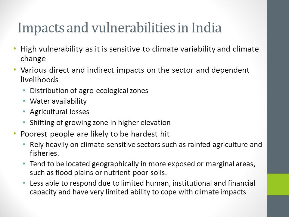 Impacts and vulnerabilities in India