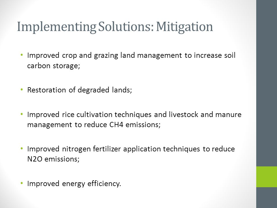 Implementing Solutions: Mitigation