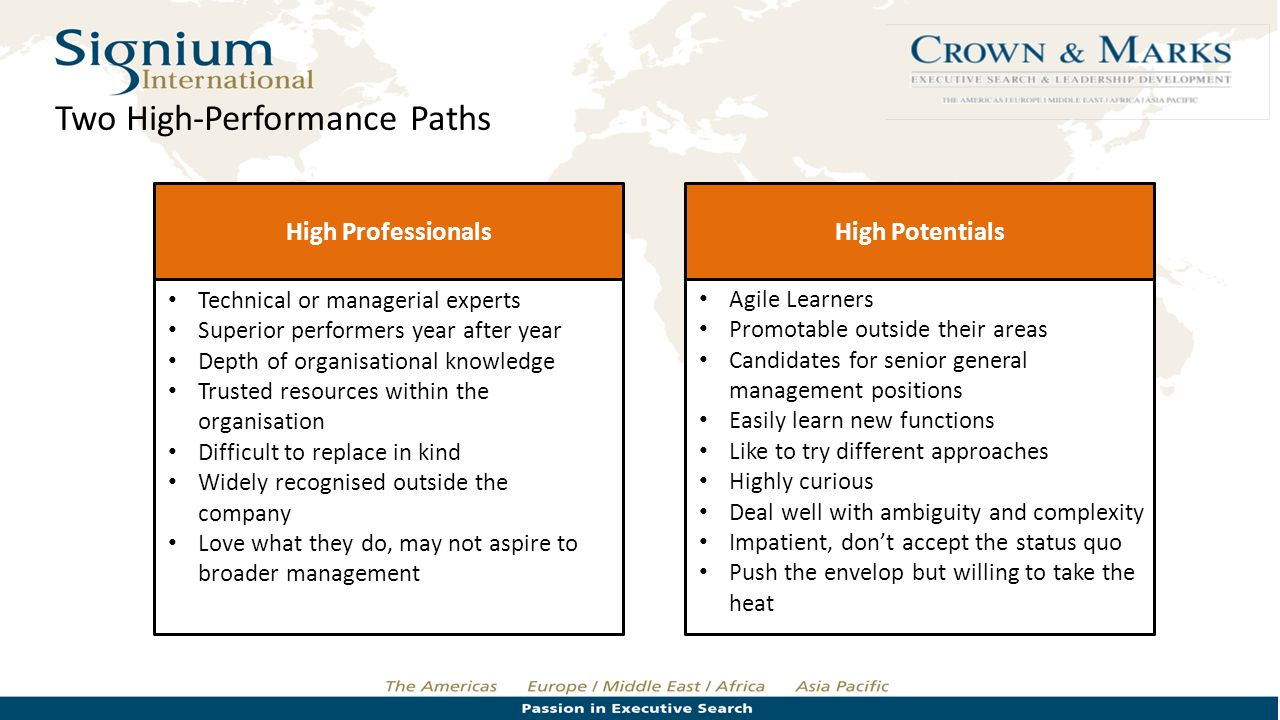 Two High-Performance Paths