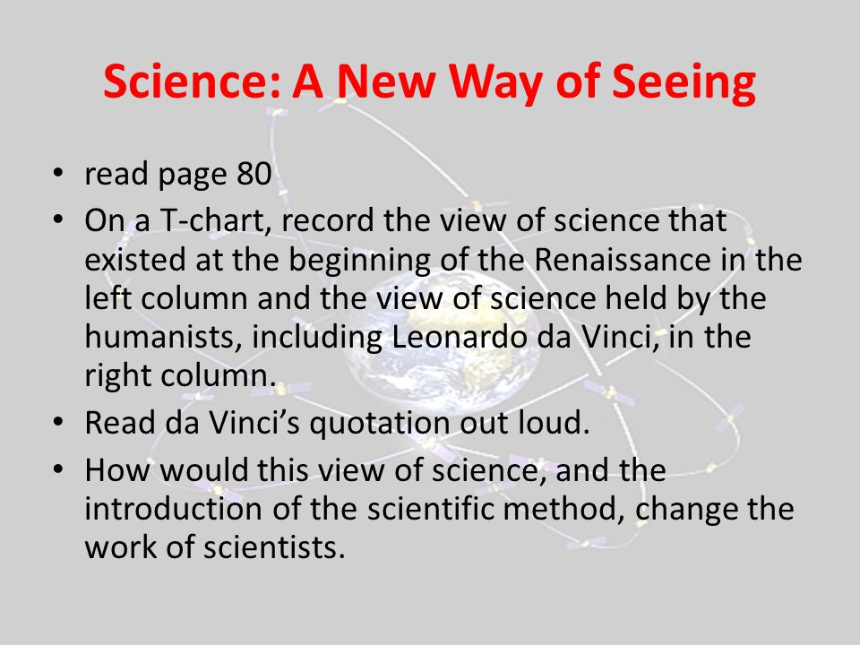 Science: A New Way of Seeing
