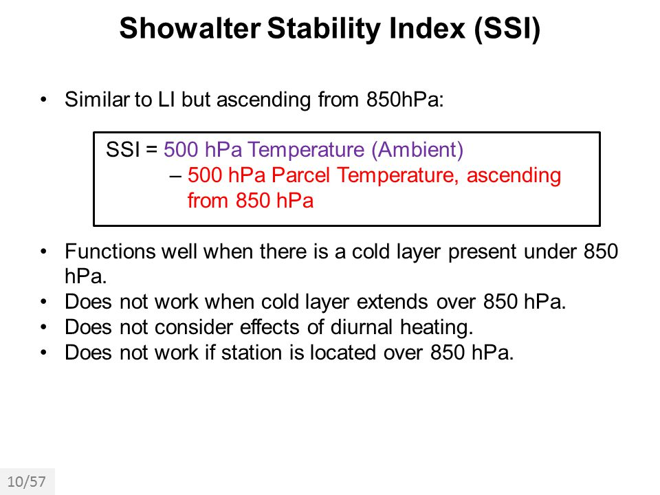 Showalter Stability Index (SSI)