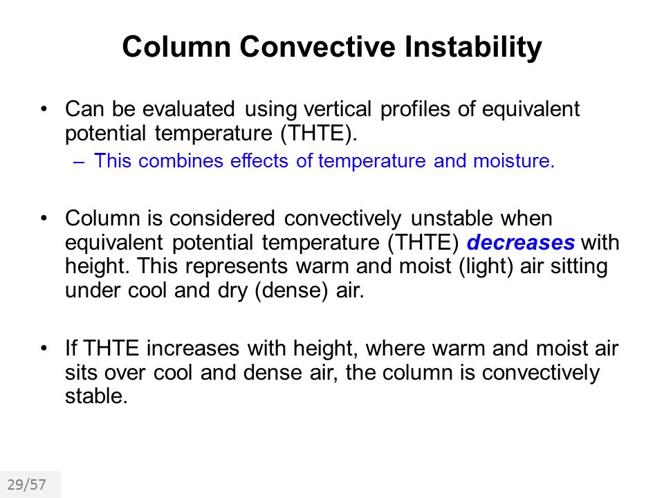 Column Convective Instability
