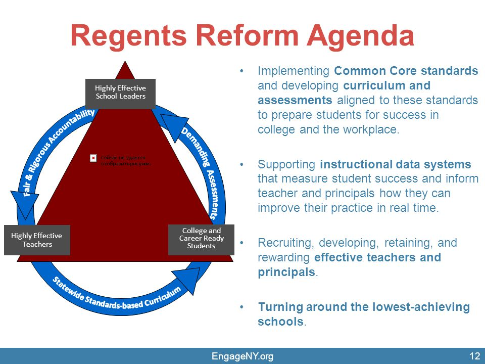 Regents Reform Agenda College and Career Ready Students. Highly Effective. School Leaders. Fair & Rigorous Accountability.