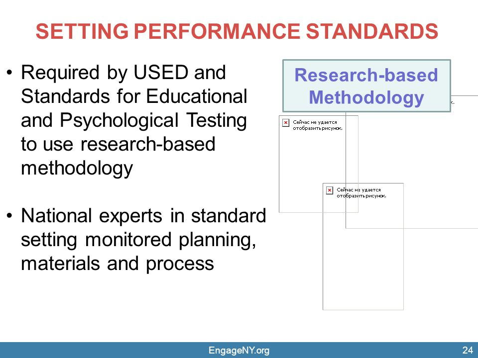 SETTING PERFORMANCE STANDARDS Research-based Methodology
