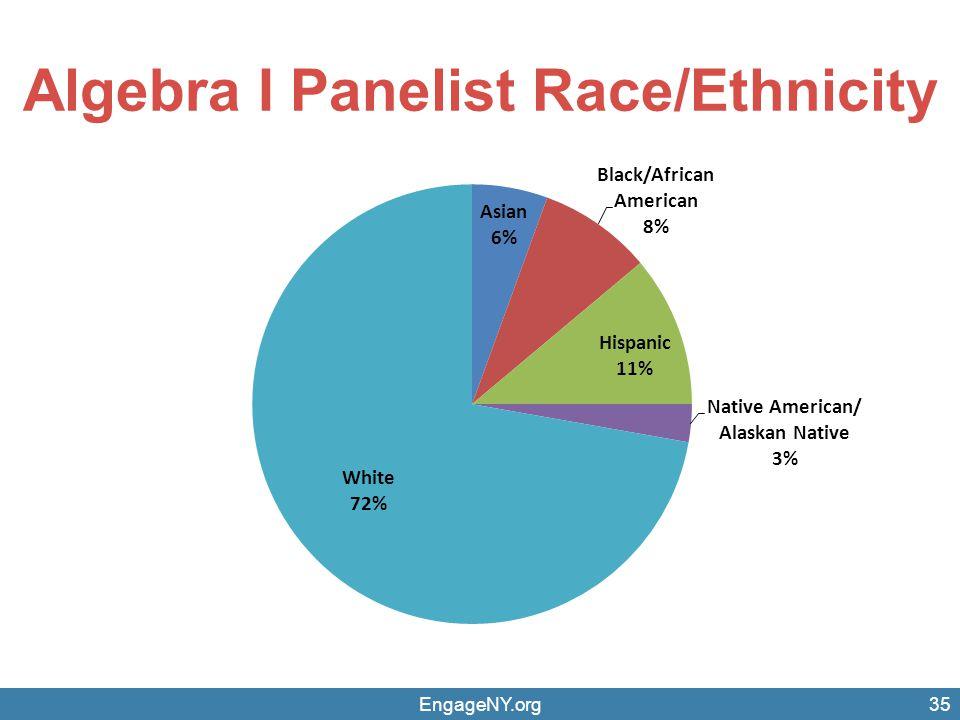 Algebra I Panelist Race/Ethnicity