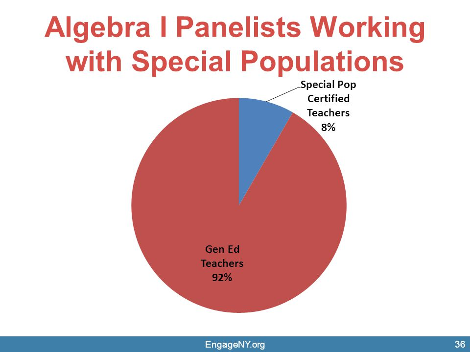Algebra I Panelists Working with Special Populations