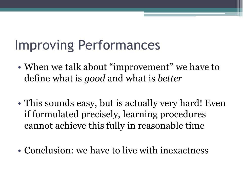 Improving Performances